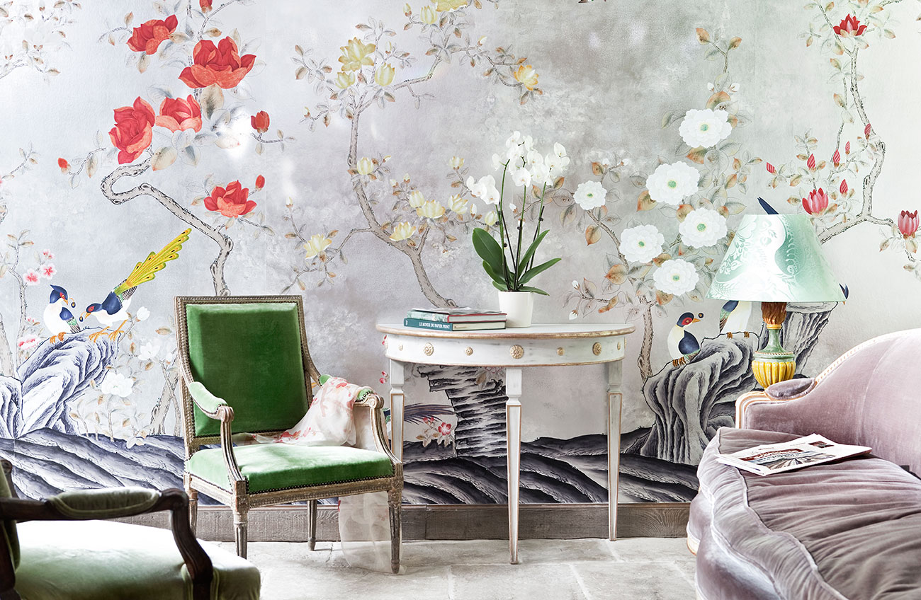 wallpapers de gournay nobis studio. Black Bedroom Furniture Sets. Home Design Ideas